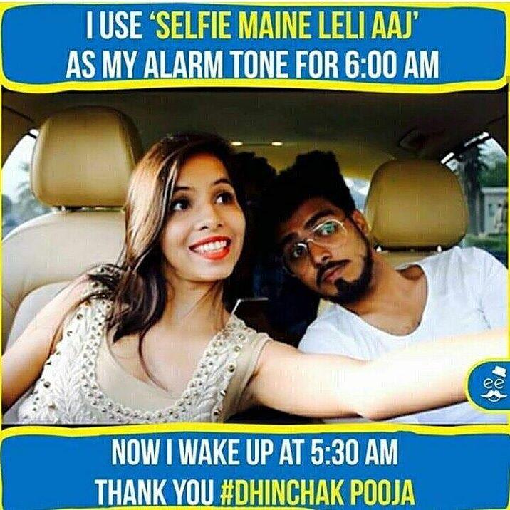 Dhinchak Pooja Selfie Maine Leli Aaj Meme 2