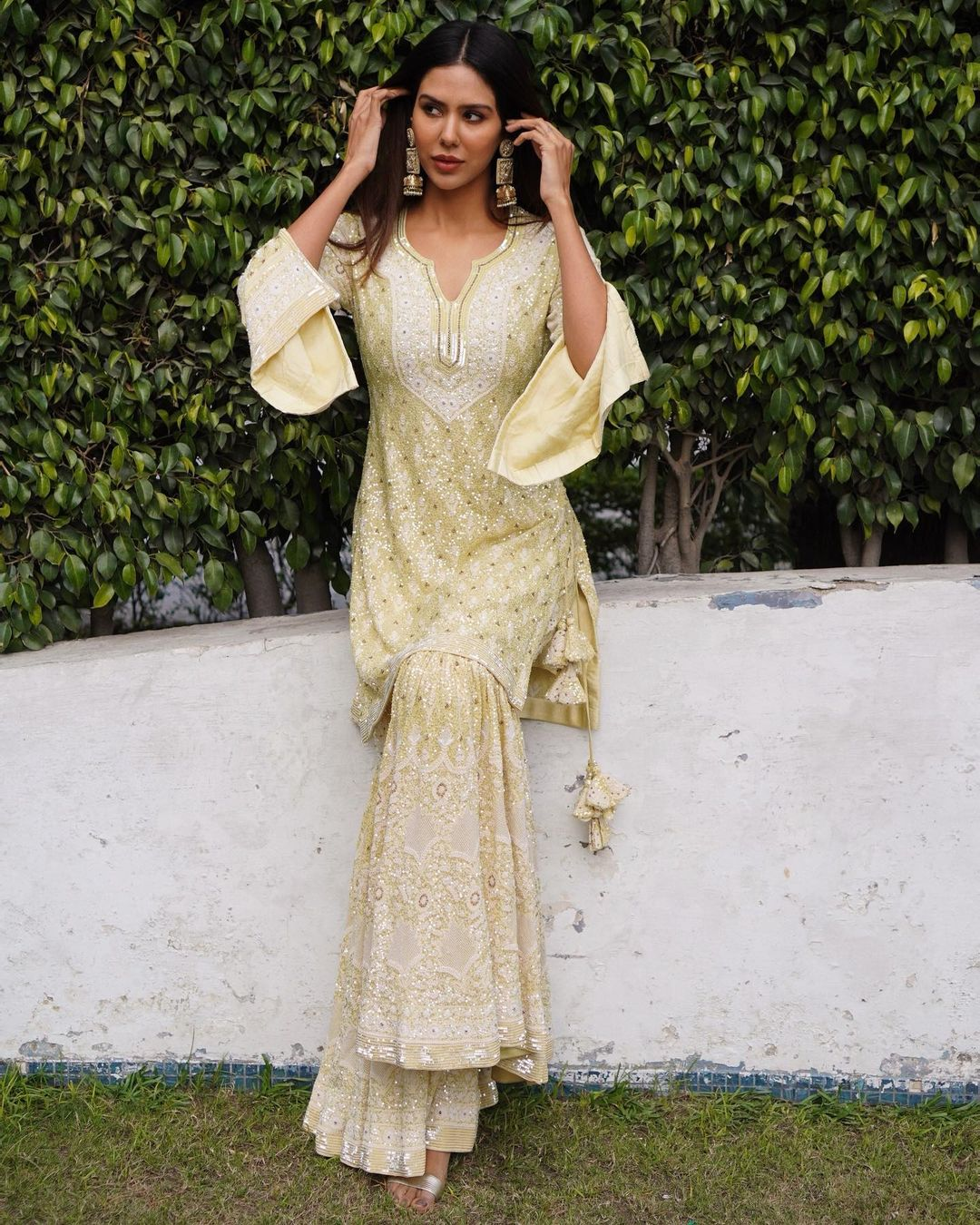 Sonam Bajwa Actress Background HD Wallpaper